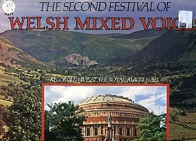 The second festival of Welsh mixed voices