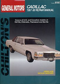 Cadillac 1967-89 Repair Manual