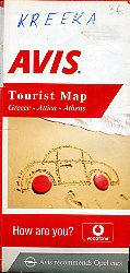 Avis Tourist Map. Greece-Attica-Athens