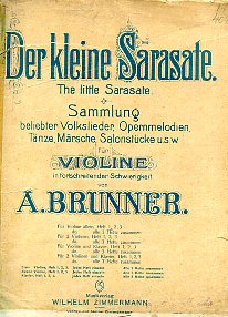 Der kleine Sarasate. The little Sarasate