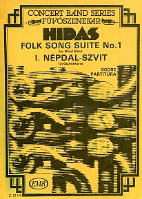 Folk song suite No. 1 for Wind Band. Score