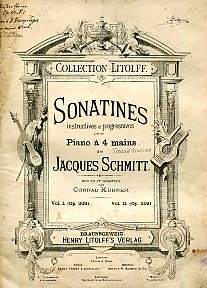 Sonatines instructives et progressives pour Piano a 4 mains