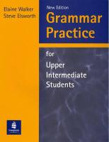 Grammar Practice for Upper Intermediate Students (Without Key)