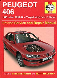 Peugeot 406. 1996 to Mar 1999 (N to T registration) Petrol & Diesel. Haynes Service and Repair Manual
