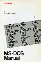 Toshiba 2.11 Operating System MS-DOS Manual